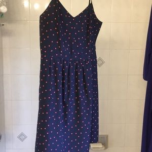Coral dot dress